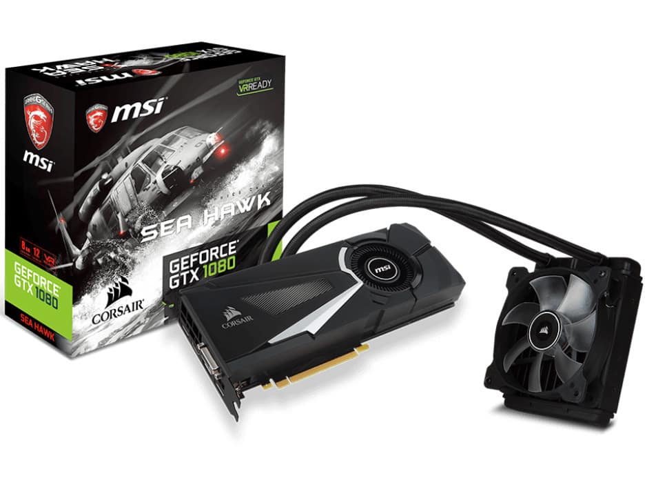 MSI GeForce GTX 1080 Seahawk - The Most Awesome Computer Components of 2016