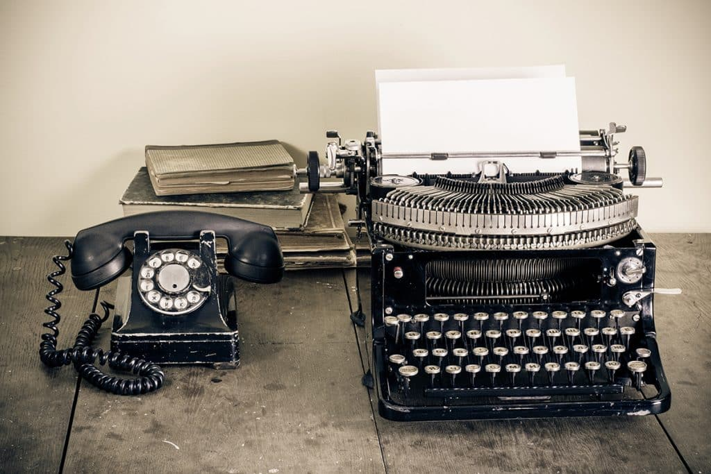 Old-School-Typewriter-Phone-Books-1024x683 3 Technologies Quickly Becoming Outdated in 2016