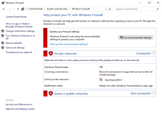 How to stop Windows Firewall from turning itself on - Check Out