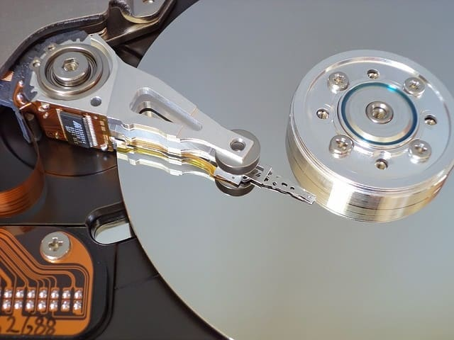 Data loss from hard drive