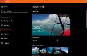 How to change the lock screen in Windows 10