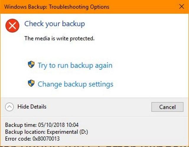 Error 0x80070013 after Windows 10 October Update - Dave's