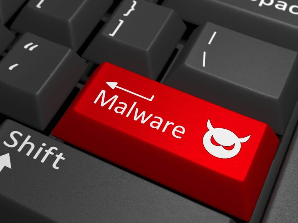 Malware key on keyboard