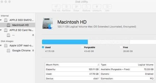 Disk repair and Mac