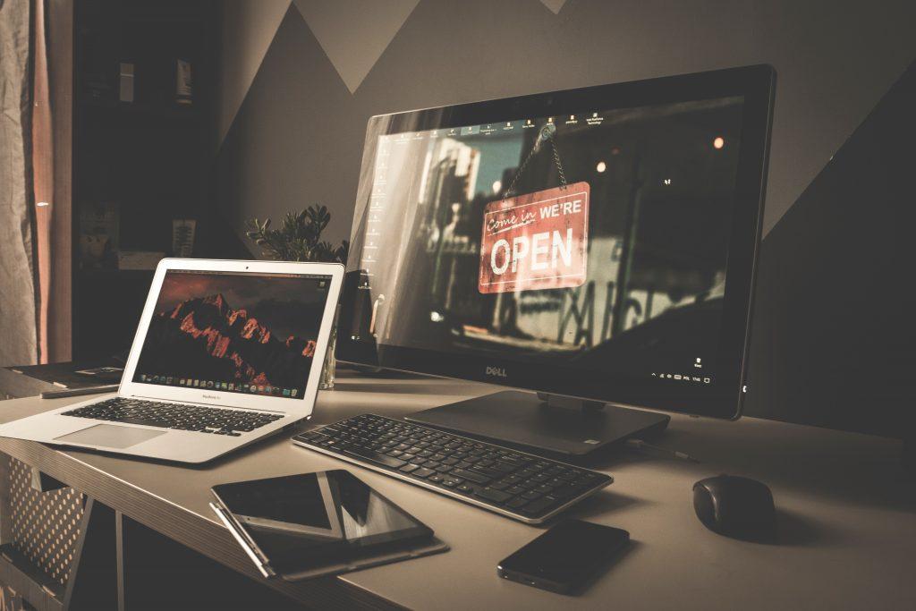 Desktop Computer, Laptop Computer, Tablet, and Smartphone